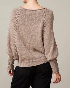 Women's Dolman sleeve sweater PDF knitting pattern /Cable knit sweater pattern/Raglan sleeve knit pullover pattern/Hand knitting pattern from FavoritesByOnling on Etsy Studio
