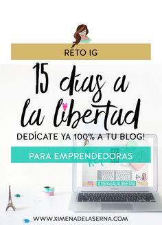 ¿Quieres ser por fin libre y poderte dedicar 100% a tu blog? BIENVENIDA A MI NUEVO RETO INSTAGRAM DE 15 DÍAS #15DiasALaLibertad! Corre, empezamos hoy! Quién se ha apuntado ya? http://ximenadelaserna.com/redes-sociales/reto-instagram-ser-libre/