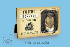 Your Bonkers Mad Hatter Personalised wooden photo panel