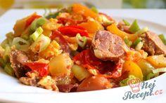 Recept Jen tak zlehka - lečo z domácí zeleniny Tacos, Pork, Ethnic Recipes, Sweet, Red Peppers, Kale Stir Fry, Candy, Pork Chops