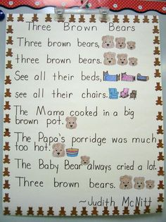 Love this for the three bears!