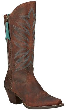 Ariat Fanfare Women's Marbled Mahogany Snip Toe Western Boots | Cavender's