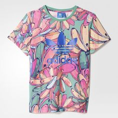Apaixonada apenas, em um relacionamento sério com obotão de pinar adidas - Camiseta Trefoil Farm