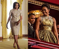http://www.youtube.com/watch?v=mCzzgiTzz7M    Golden wrist wear, shining clutches and festive frocks; this holiday season, we're keen on celebrating with Michael Kors. Apparently, our stylish First Lady, Michelle Obama, is too. She recently decked the White House walls in a glittery gold skirt suit by the designer and sparkled in a rhinestone encrusted sparkling frock, also by Kors, at the Kennedy