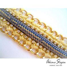 Crochet & chain bracelet