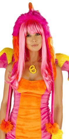 Sexy Electric Daisy Dragon Hood Halloween Accessory