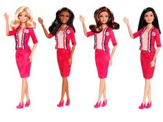 Barbie as President! This is the first doll that stands on her own.