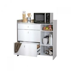 Homestar mueble para microondas alto 76 x 46 x 170 cm - Mueble alto microondas ...