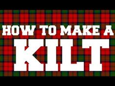 How to make a Kilt - Part 2 Fascinating video on creating a new clan tartan and the approval process.