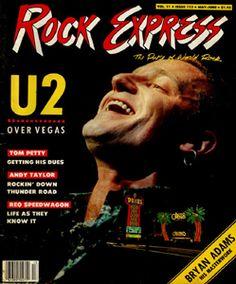 ROCK EXPRESS MAGAZINE 1987 U2 IN LAS VEGAS