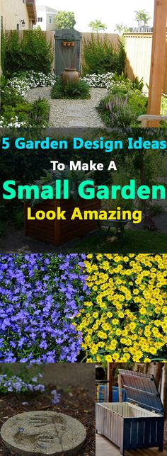 If you have a yard or garden that is small and there is a problem of lack of space, must see our 5 garden design ideas that can make a small garden look amazing and bigger.