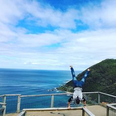 Couldn't resist this awesome  view down the great ocean rd today ....so a handstand was in order ... #health #handstand #handstands #inversion #greatoceanroad #instagram #yoga #motivation #fit #fitness #headstands #lorne #apollobay #photooftheday by philtaylor_679 http://ift.tt/1LQi8GE