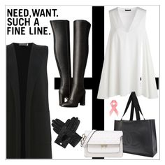 """""""NEED, WANT. SUCH A FINE LINE!!!"""" by kskafida ❤ liked on Polyvore featuring Mint Velvet, The Row, MICHAEL Michael Kors, Chanel and Dents"""