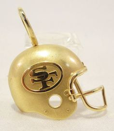 14k Solid Gold San Francisco 49ers Pendant Beautiful Detail Sports Free Shipping #Pendant