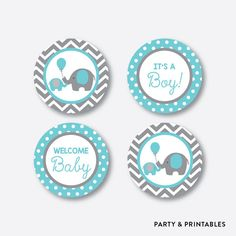 Please see the product images and read the following description. You will receive: non-personalized cupcake toppers (digital file). Phrases: its a boy, its a girl, sweet baby, welcome baby (all included in this product). Size: 2.5x2.5 square and 2x2 circle formatted 12 in 8.5x11 page. Shower Party, Baby Shower Parties, Baby Boy Shower, Baby Showers, Whale Cupcakes, Elephant Cupcakes, Welcome Baby Party, Imprimibles Baby Shower, Whale Party