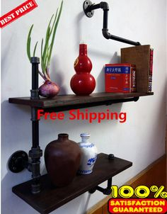 Cheap shelf edging, Buy Quality shelf furniture directly from China shelf fitting Suppliers:         American Country Wrought Iron Furniture Industry Pipe Retro Creative Personality Hanging on the Wall Shelves wal
