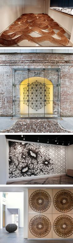 New Nail Sculptures by John Bisbee That Twist Across Floors and Walls