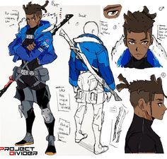 Some new concept art I've been working on for a character named Law. I've wa. - Some new concept art I've been working on for a character named Law. I've wa… - Black Anime Characters, Dnd Characters, Fantasy Characters, Fantasy Male, Manga Posen, Male Character, Character Sheet, Character Concept Art, Illustration Design Graphique