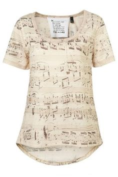 Music note T-shirt. Oh how I would love this!!!!