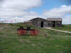 Prairie Homestead in Philip, South Dakota - see an original sod house and lots of white prairie dogs popping up all over the place!