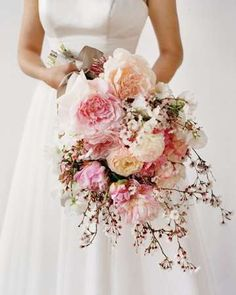 Maxi ramos de novia: fotos ideas - Ramo de novia con flores grandes