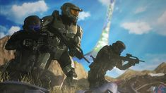 Master Chief with a pair of ODSTs during the conquest of Installation Odst Halo, Halo 2, Halo Cosplay, Halo Game, Future Soldier, Sci Fi Characters, Aquaman, Skyrim, Master Chief