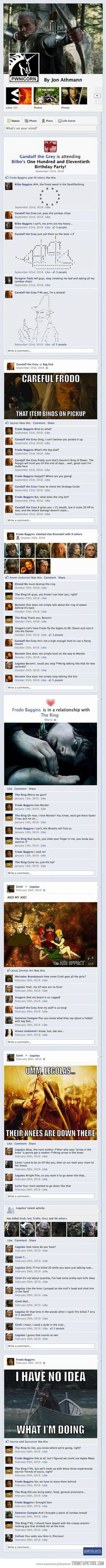 The Lord of the Rings on Facebook… sorry for the swearing, not my doing...
