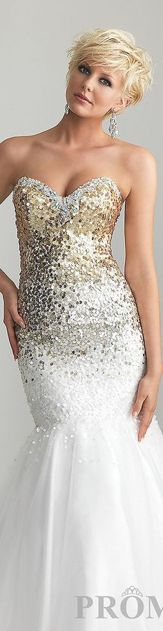 Fashion long dress #sexy #gold #glitter #sparkly #strapless #mermaid #formal #dresses