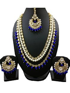 Bridal Necklace Set, Bridal Jewelry Sets, Bridal Jewellery, Indian Jewellery Online, Indian Jewelry Sets, Women Jewelry, Indian Bollywood, Pakistani, Kundan Jewellery Set