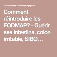 Comment réintroduire les FODMAP? - Guérir ses intestins, colon irritable, SIBO…