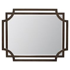 Crawford Caviar Regency Rectangular Wood Mirror | Kathy Kuo Home