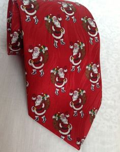 Men's Silk Tie Santa Christmas Red Boxed Museum Artifacts Nordstrom's