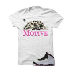 Jordan 10 Gs Vivid Pink White T Shirt (Money Is The Motive)