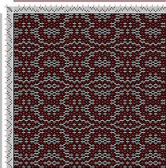 (Draft 315) Drawdown Image: Threading Draft from Divisional Profile, Tieup: Crackle Design Project, Draft #13298, 4S, 4T