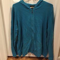Eddie Bauer zip up sweater. New, never been worn. 70% cotton, 30% nylon Eddie Bauer Sweaters Crew & Scoop Necks