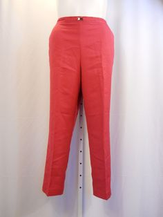 Alfred Dunner Raspberry Pink Pants Pull On Proportioned Short  Size 16-18 #AlfredDunner #CasualPants