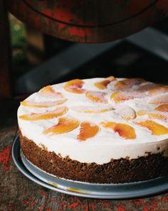 Frozen Peaches and Cream Cake