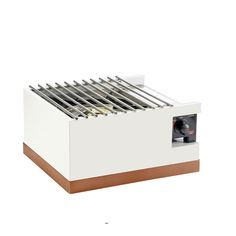 12W x 14.25D x 7.5H Luxe Butane Burner Housing White Metal Frame/Copper Base