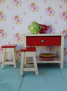 vintage toy furniture