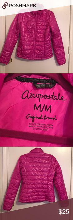 Aeropostale Light Weight Puffer Jacket Used, great condition, Aeropostale Pink Lightweight Puffer Jacket Coat. Aeropostale Jackets & Coats Puffers