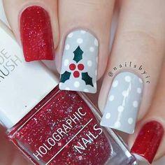 50 Beautiful Stylish and Trendy Nail Art Designs for Christmas Great Nails, Perfect Nails, Cute Nails, My Nails, Trendy Nail Art, Cute Nail Art, Nail Charms, Polka Dot Nails, Burgundy Nails