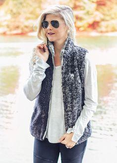 Phantom Heather Sherpa Vest