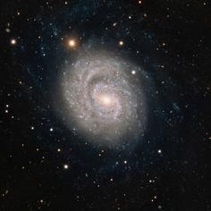 Spiral Galaxy NGC 1637 | This image from ESO's Very Large Telescope at the Paranal Observatory in Chile shows NGC 1637, a spiral galaxy located about 35 million light-years away in the constellation of Eridanus (The River). In 1999, scientists discovered a Type II supernova in this galaxy and followed its slow fading over the following years.