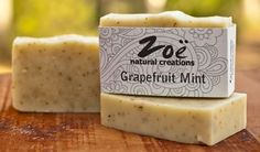#Grapefruit Mint // Handmade with natural luxury ingredients, our handcrafted soaps are all the talk  >> www.zoenaturalcreations.com #natural #products #beauty #skincare #pamper #skin #health #organic #naturalbeauty #naturalhealth #eco