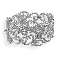 Vintage Style CZ Bangle Bracelet #ring #pendant