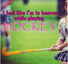 Het voelt alsof ik in de hemel ben, als ik Hockey speel ;-)