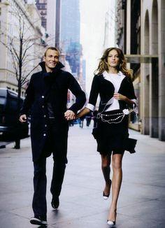 Daria Werbowy en la campaña de invierno de 2005. La historia de los zapatos bicolores de Chanel-