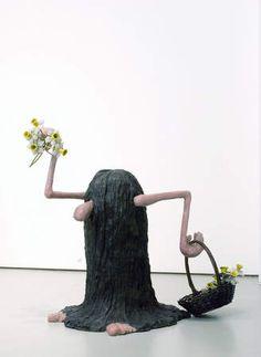 Liz Craft, Hairy Guy (with flower basket), 2005.