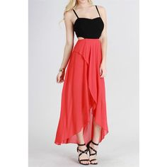 High Low Maxi with Cutouts
