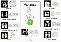 Relaterad bild Sign Language Phrases, Baby Sign Language, Preschool Library, Kids Barn, Learn Swedish, Swedish Language, School Labels, Adhd And Autism, Educational Activities For Kids